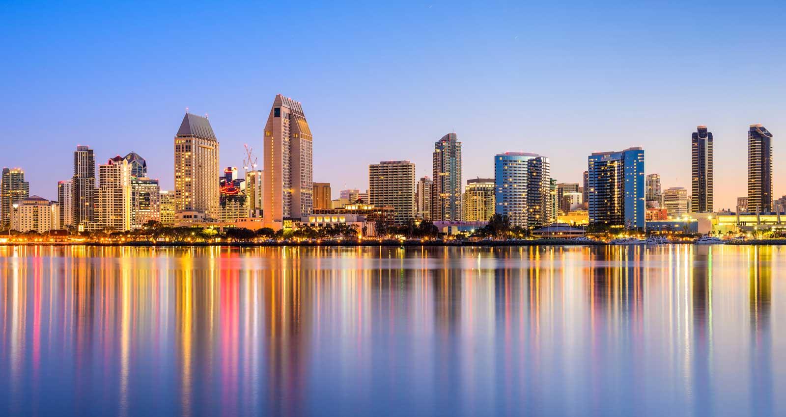 high-rise buildings in San Diego, CA