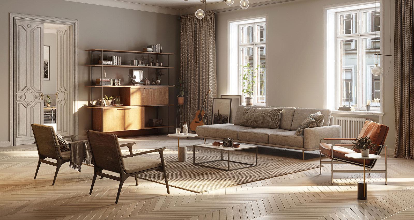 classy and elegant living room
